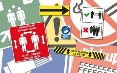 Borden & stickers met voorschriften